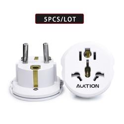 5PCS/Lot Universal Europe 16A Travel Adapter EU Converter UK US AU to EU AC Wall Socket Plug Charger Adapter 2 Round Pin Socket