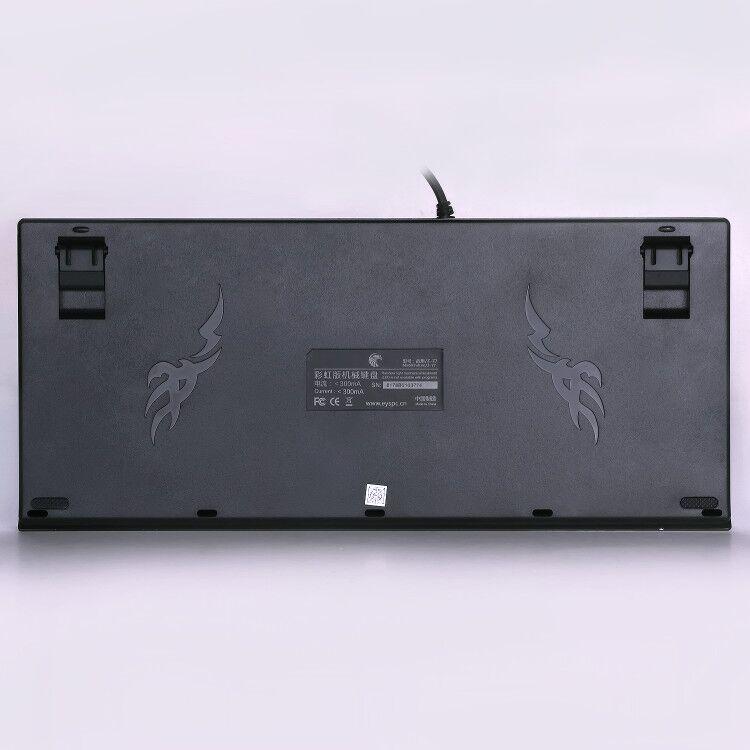 German Layout Z-77 Mechanical Gaming Keyboard Rainbow LED light Outemu Blue Switches, 88 keys Anti-ghosting 5