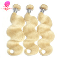 QUEEN BEAUTY HAIR Brazilian Body Wave Remy Hair Weft 613 Blonde Hair 12inch To 30inch Human