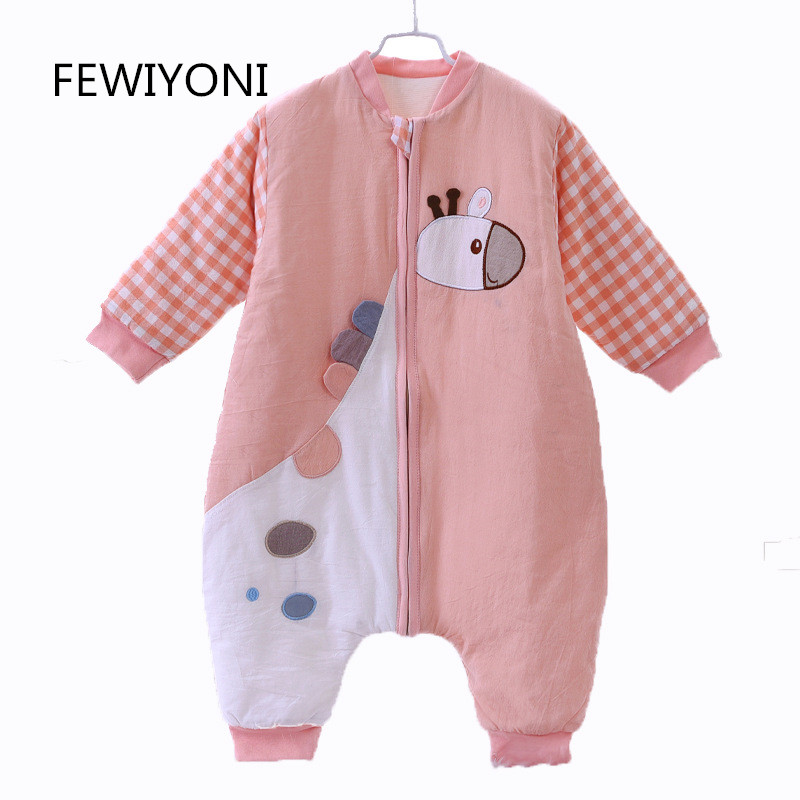 FEWIYONI 2018 baby sleeping bag cotton piece romper baby autumn and winter anti kicking sleeping bag baby children's products
