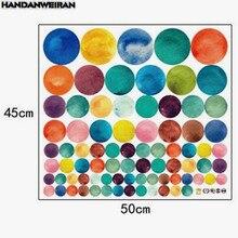 1PCS 80 Colorful Circle Wall Sticker PVC Dot Decoration For Door Refrigerator Window Glass Art 45*50cm