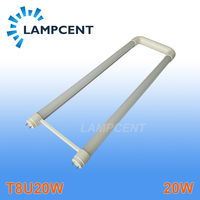 2 6/pack U shaped LED Tube Light 2ft 20W T8 G13 Bi pin Retrofit Bulb Fluorescent Lamp work into exist fixture 110V 277V