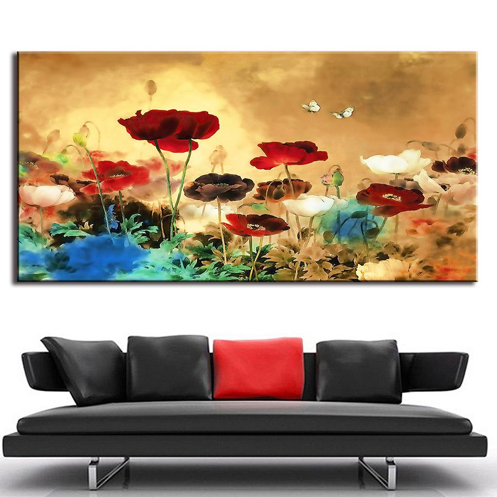Living Room Oil Paintings Aliexpresscom Buy 1pcs Set Huge Picture Living Room Wall Art