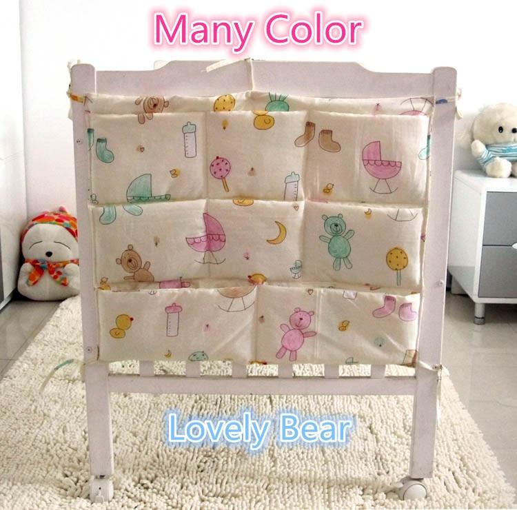 196403cdb952 US $10.67 11% OFF Promotion! Cartoon 62*52cm Multifunctional Baby Bed  Hanging Storage Bag Newborn Crib Organizer Bags,baby bedding set-in Bedding  Sets ...