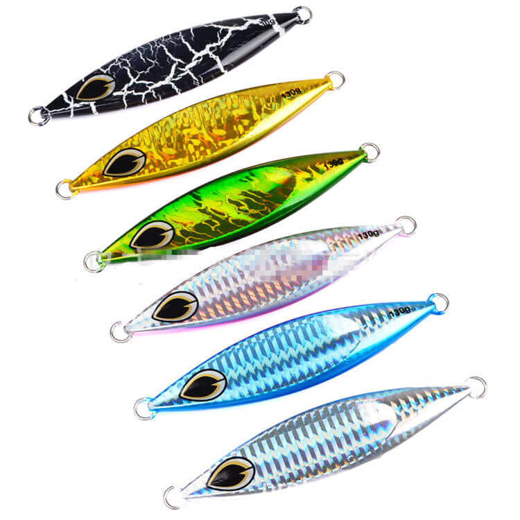 6pcs 130g/11cm Micro Jigs Butterfly Knife Jigs Crank Bait Snapper Jiggings King Tuna Slo ...
