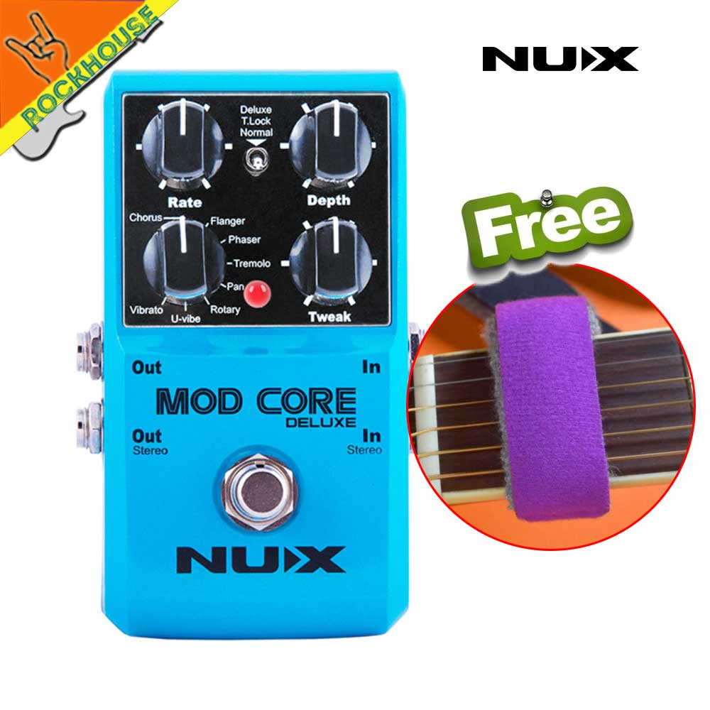 цены NUX MOD CORE Deluxe Multi Modulation Guitar Effects Pedal Chorus Flanger Phaser Rotary Speaker Pan Vibrato True Bypass Free Ship