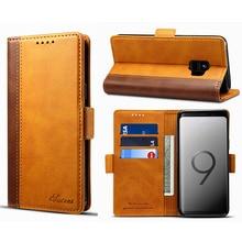 Чехол-раскладушка кожаный бумажник чехол для samsung Galaxy S9 плюс карманом для карт чехол-кобура для мобильного телефона с рукавом в виде ракушки для samsung S9 Fundas Capa
