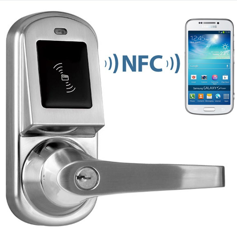 Android Smart Nfc Door Lock In Control Card Readers From