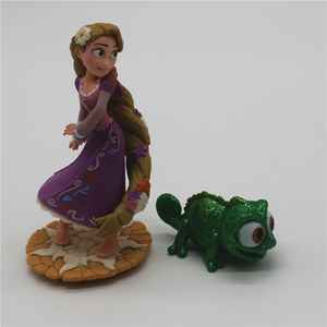 Image 3 - 2piece/lot  New Style Tangled Figure toys Chameleon Pascal Green Chameleon and Rapunzel princess figure toys