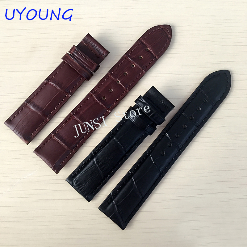 19*18mm Genuine Leather Watchband For tissot T17|T461|T041\T041 <font><b>watch</b></font> band Black <font><b>Watch</b></font> accessories For <font><b>PRC200</b></font> Strap Bracelet image