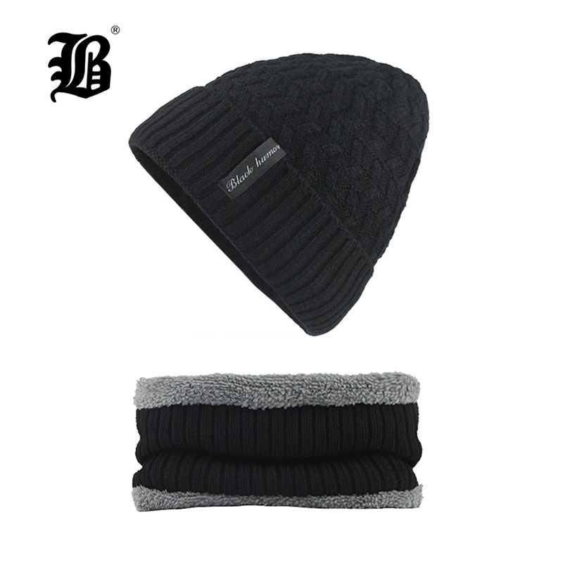 [FLB] 2018   Skullies     Beanies   Winter Knitted Hat   Beanie   Scarf Men Winter Hats For Men Women Caps Gorras Bonnet Mask Hat F18011
