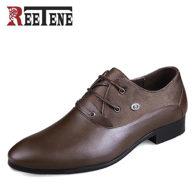 Tamaño grande: 38-50 Cuero Genuino de Los Hombres Zapatos Oxford, alta Calidad de Los Hombres Zapatos de Vestir, Zapatos de Boda de Los Hombres de cuero, Zapatos de cuero de Los Hombres