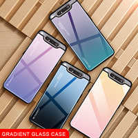 Gradient Glass Phone Case For Samsung Galaxy A80 A90 A 80 90 A Case For Samsun SM A805F 90A 80A Cover Shell Safety Fundas Capa
