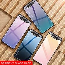Gradienten Glas Telefon Fall Für Samsung Galaxy A80 A90 EINE 80 90 EIN Fall Für Samsun SM A805F 90A 80A abdeckung Shell Sicherheit Fundas Capa
