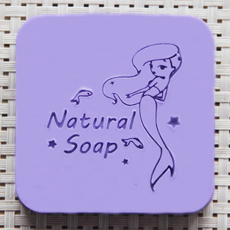free shipping natural handmade acrylic soap seal stamp mold chapter mini diy mermaid patterns organic glass 5X5cm 0253 mp3202 mp3202dj lf z il6 sot23 6