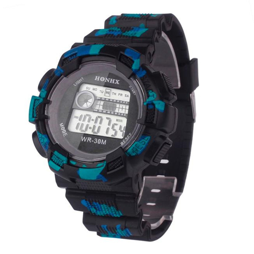 Digital Watches Men Womens Fashion Men Waterproof LED Digital Date Military Sport Rubber Quartz Watch Alarm Clock  #1213