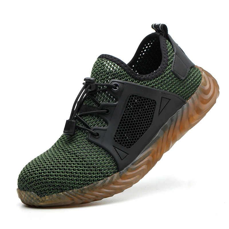 בלתי ניתן להריסה ריידר נעלי גברים ונשים פלדת הבוהן אוויר בטיחות בעבודת מגפי לנקב הוכחה החלקה נעלי ספורט לנשימה קל משקל