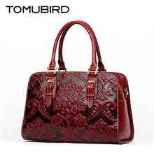 TOMUBIRD new quality cowhide material Embossed Crocodile Tote famous brand women bag fashion genuine leather handbags