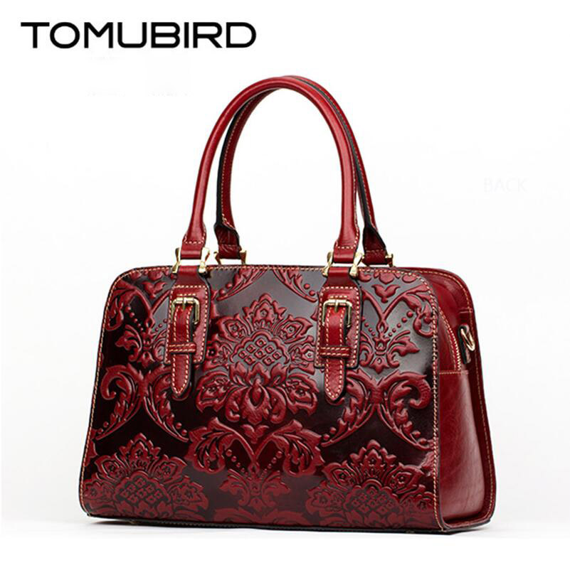 цены TOMUBIRD new quality cowhide material Embossed Crocodile Tote famous brand women bag fashion genuine leather handbags
