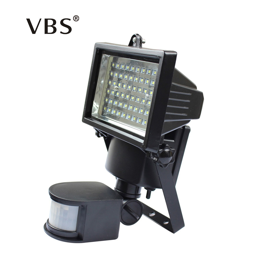 Super Bright Natural White Outdoor Light 60 LED Waterproof Led Solar Powered Light PIR Motion Wall Lamp Floodlights Solar Lamp yj 2338w 3w 350lm 6000k 60 led white light solar powered spotlight white 3 7v