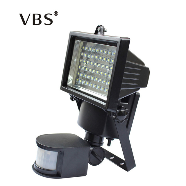 Super Bright Natural White Outdoor Light 60 LED Waterproof Led Solar  Powered Light PIR Motion Wall