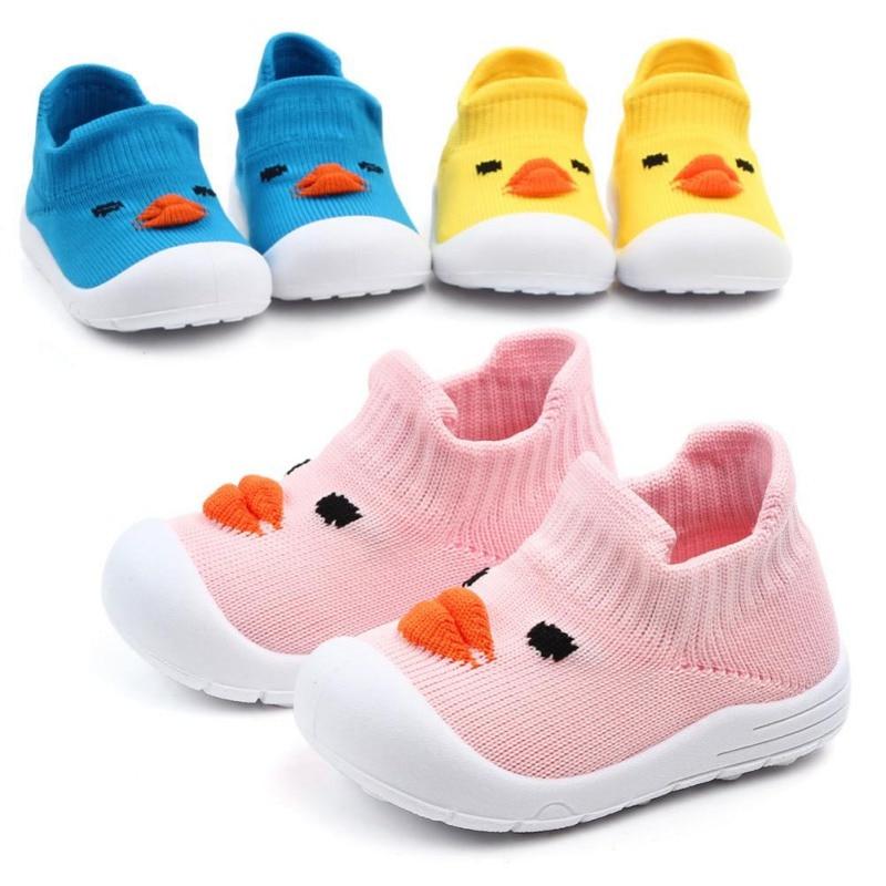 Shoes Sneakers Soft-Soled Baby-Boys Cartoon-Pattern New Anti-Slip Walking-Crib