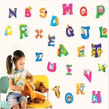 A-Z Alphabet Animals Wall Sticker Mural PVC Decals Kids Baby Nursery Room Decor Early Education Kid 0-3Y