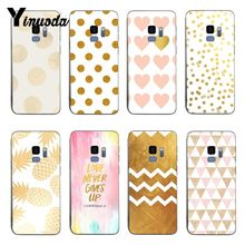 Yinuoda Gold Stippen Wave Hart Woord siliconen Soft Cover cases Voor samsung S8 S9 S8PLUS S7 RAND Note 8 note 9(China)