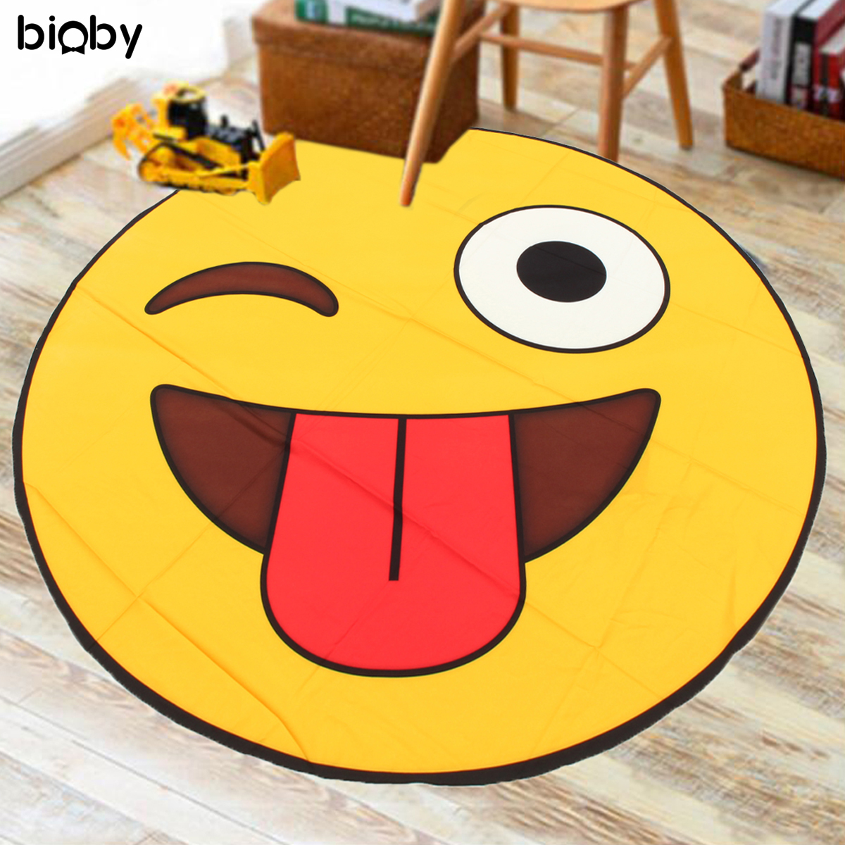 1.5M Baby Infant Play Mat Pad Activity  Indoor And Outdoor Cushion Emoji Style Blanket Summer Adult Child Beach Travel Mat