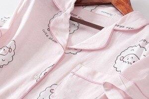 Image 5 - Pembe Bluecute koyun Grafik Tee Ve Şort Pijama Kadınlar turn down Kısa Kollu 2019 Yaz Karikatür Pijama Setleri Gecelikler