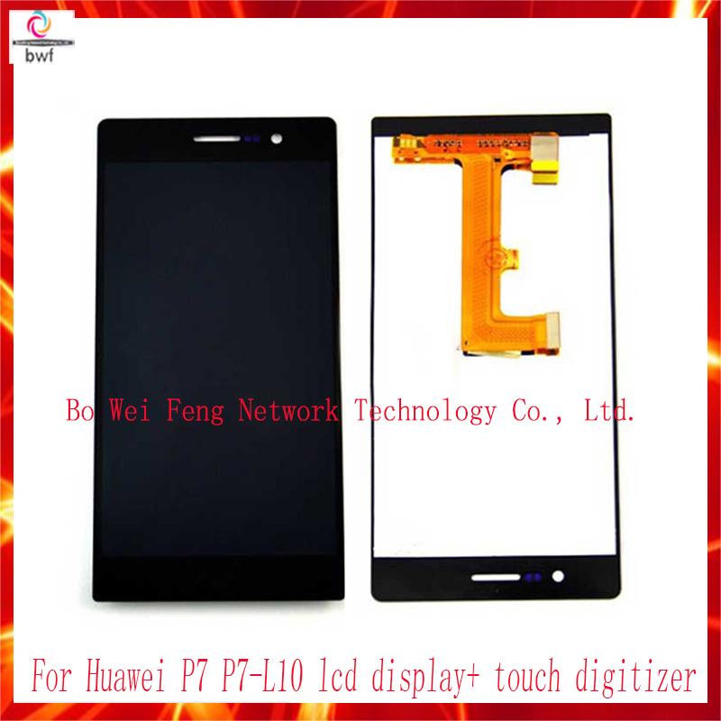 ФОТО High quality brand new screen For Huawei P7 P7-L10 lcd display+ touch digitizer assembly replacement screen  free shipping
