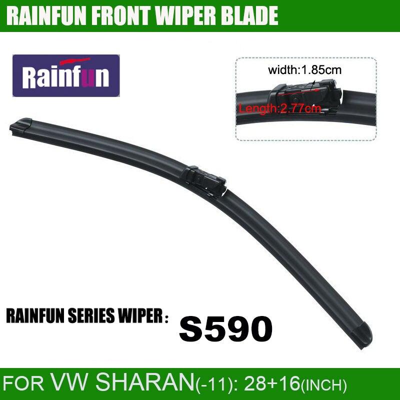 RAINFUN специальный автомобиль стеклоочистителя для VW SHARAN(-11), 28+ 16 дюймов с высококачественной резиновой заправкой, 2 шт. в партии