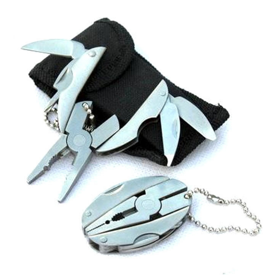 Portable Multifunction Folding Plier Stainless Steel Knife Keychain Screwdriver Camping Survival Tools Travel Kits Pocket Set