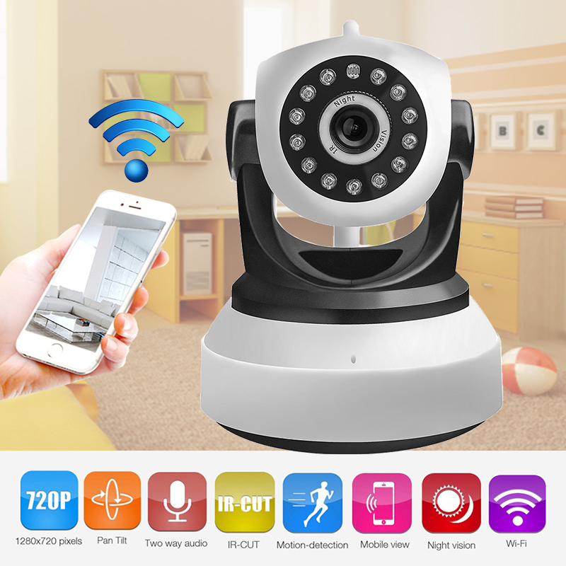 Home Camera 720P WiFi Wireless IP Security Surveillance Camera for Baby/Elder/ Pet/Nanny Monitor with Night Vision Ethernet Port