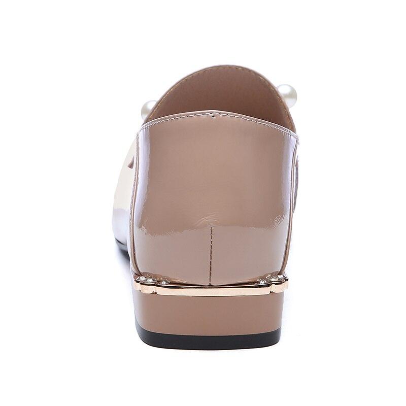 Zapatos Tamaño Tacón Mujeres Genuino De Cuero Moda Vaca Mujer Calidad Bajo 40 Nueva 34 Primavera Beige negro 100 Las Sklfgxzy xR8BSqS