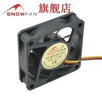 Ventilador de refrigeración Snowfan yy6015h12s 6015 6cm 12v VENTILADOR DE VENTILACIÓN DE 3 líneas