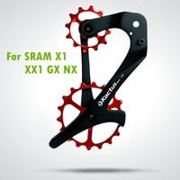 18TSRX Carbon Fiber Bicycle Rear Derailleur Jockey Wheel Set 12/18T Ceramic Bearing Bike Pulley Wheel Rear for SRAM X1 XX1 GX NX