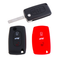 Remote Entry ID46 Chip Auto Sleutelhanger 3 Knoppen Siliconen Ongesneden Blank Blade Auto Autosleutel Case Shell voor CITROEN/BERLINGO