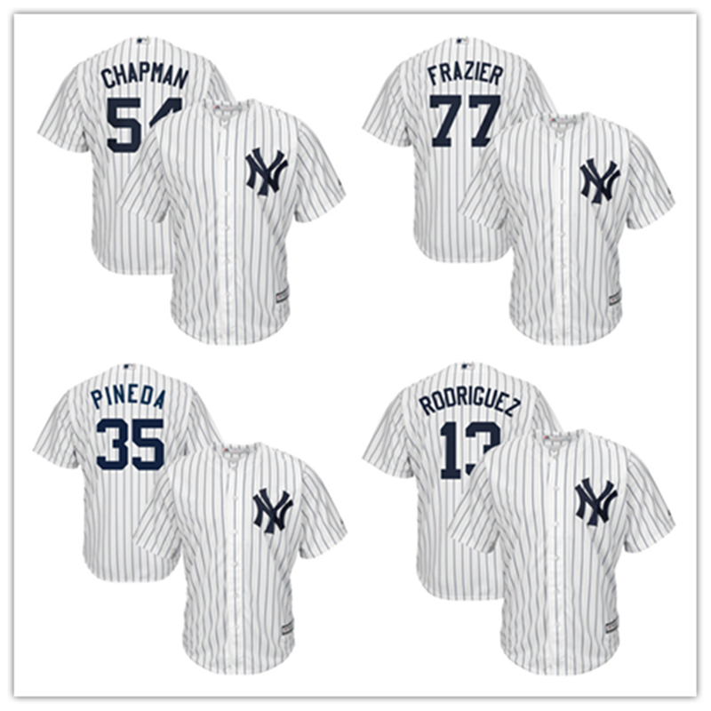 MLB Для мужчин Нью-Йорк Янкиз Aroldis Чепмен Бейсбол Джерси Majestic Клинт Фрейзер Майкл Пинеда Алекс Родригес плеер Джерси ...