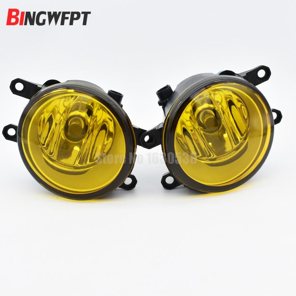 2 Pieces 3000K Yellow Lens Fog Light Lamp Left Right RH LH Side For Toyota Avalon Corolla Matrix Venza Highlander fit for 15 17 gmc yukon denali front fog light lamp chrome bezel lh rh h3 12v 20w clear lens