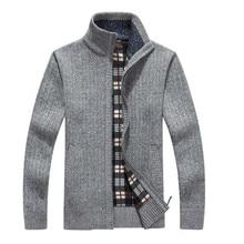 Men's Cardigans Sweaters Hot Arrives Autumn Winter Mandarin Collar Casual Clothes For Men Zipper Sweater Warm Knitwear Sweater