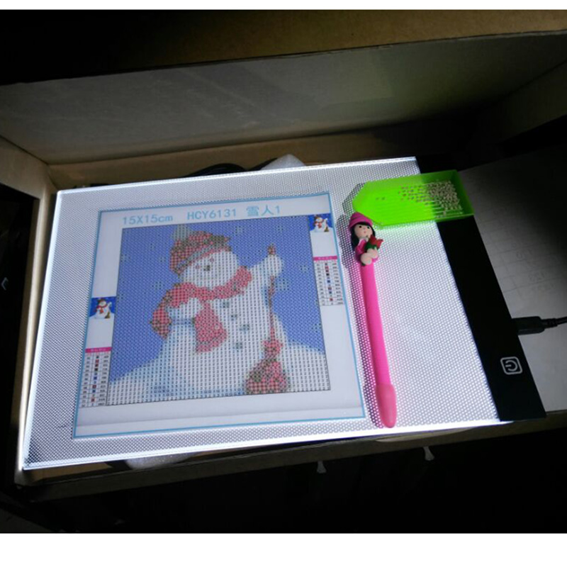 A4 Writing Diamond Painting Light Box Tracing Board Copy Pads Tablet Artcraft Copy Table LED Board Adjustable Three Shift Light writing