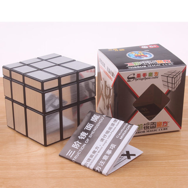 Original magic speed  mirror cube sticker block Puzzle Cast Coated Cube professional learning education toys for children 6
