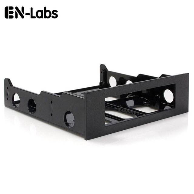 En-Labs 3.5 to 5.25 Floppy to Optical Drive Bay Mounting Bracket Converter for Front Panel,Hub,Card Reader,Fan Speed controller 1