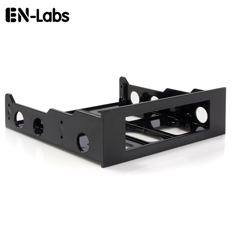 En-Labs 3.5 To 5.25 Floppy To Optical Drive Bay Mounting Bracket Converter For Front Panel,Hub,Card Reader,Fan Speed Controller