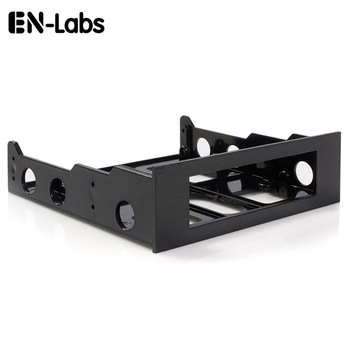 En-Labs 3.5 to 5.25 Floppy to Optical Drive Bay Mounting Bracket Converter for Front Panel,Hub,Card Reader,Fan Speed controller 1 pcs usb 3 0 20 pin 2 ports front panel floppy disk bay hub bracket cable