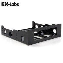 En labs 3.5 ~ 5.25 플로피 광학 드라이브 베이 장착 브래킷 변환기 전면 패널, 허브, 카드 판독기, 팬 속도 컨트롤러 용