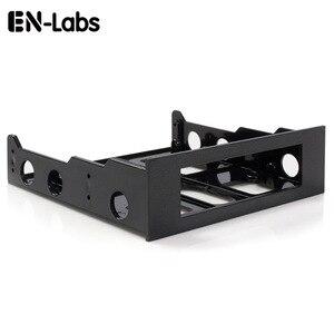 Image 1 - エン Labs 3.5 に 5.25 フロッピーに光学ドライブベイブラケットコンバータフロントパネル用、ハブ、カードリーダー、ファン速度コントローラ