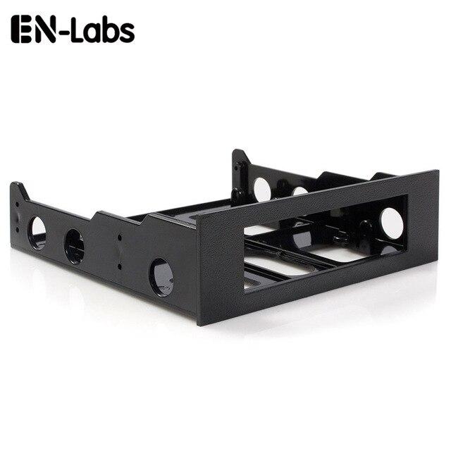 エン Labs 3.5 に 5.25 フロッピーに光学ドライブベイブラケットコンバータフロントパネル用、ハブ、カードリーダー、ファン速度コントローラ