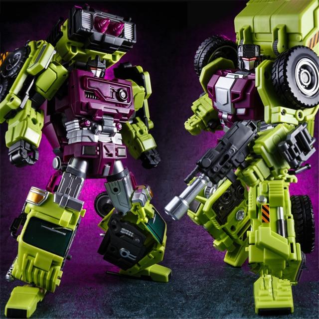 IN STOCK Set B JINBAO Bulider Oversized Transformation Robot Devastator Truckshovel and Agitating Lorry Action Toy Figures